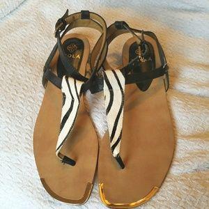 Isola animal print sandals